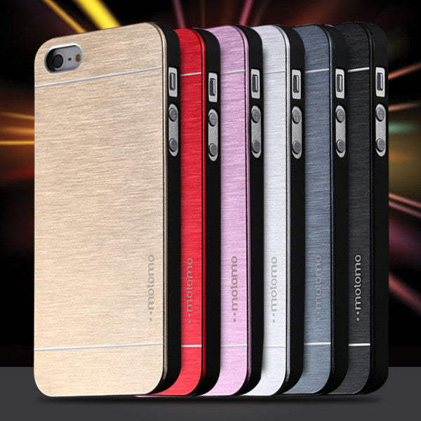 5S Aluminum Case Deluxe Gold Metal Brush Cover for iphone 5 5s 5g Hard Aluminum + Soft TPU Frame Slim Back Phone Case For Iphone 5/5s