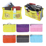 Lady's Multi Functional Organizer Travel Bag Handbag Purse Insert with Pockets Storage Makeup Cosmetic Bag Cases Box