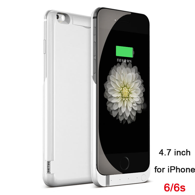 7000mAh Rechargeable Backup Power Case Cover for iPhone 6 External Battery Charger Case for iPhone 6Plus Power Bank Case 8000mAh