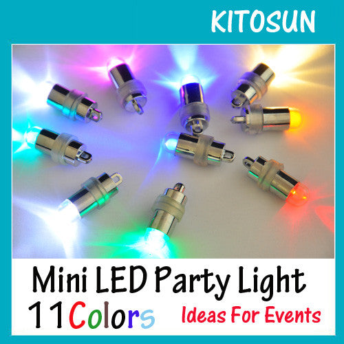 Waterproof LED Mini Party Lights for Lanterns,Balloons, Floral Mini Led Lights For Wedding Centerpiece KIT Eiffel Glass Vases-10pcs