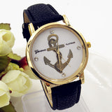 New Fashion Anchor Watches Leather GENEVA Watches For Women Dress Watches Quartz Watches