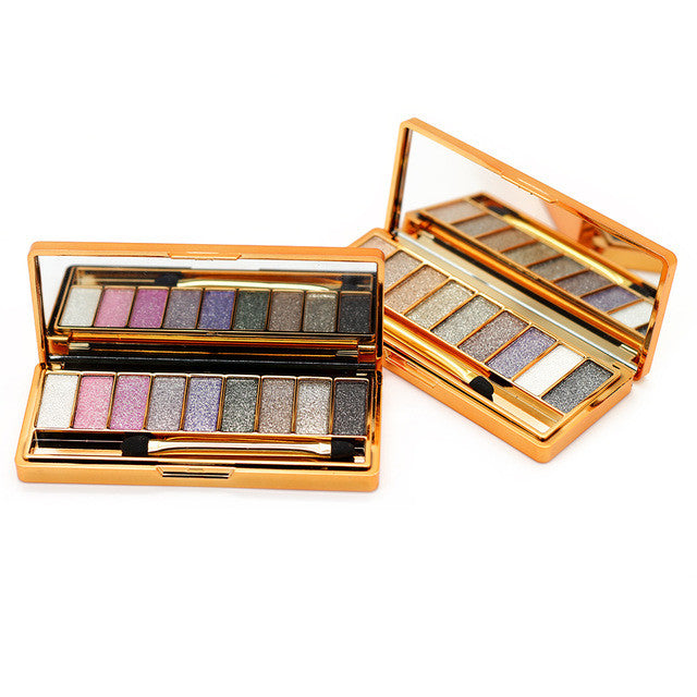 9 Colors Diamond Makeup Eyeshadow Naked Smoky Palette Make Up Set Eye Shadow Maquillage Glitter Professional Cosmetic With Brush