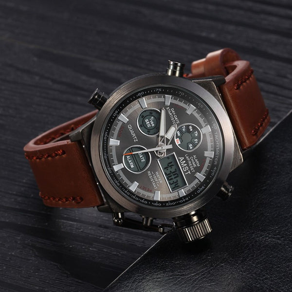 AMST Brand Dive LED Watches Men Sport Military Watch