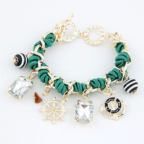 New Vintage Anchor Bracelets for Women Charm Bracelets & Bangles Men Jewelry Bijoux Pulseras Mujer Pulseiras Anchor Fashion Accessories