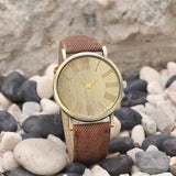 Hot Antique Watches Relojes Quartz Men Watches Casual Bronze Color Leather Strap Watch Male Wristwatch