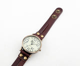 Antique Watch Fashion Wrap Winding Vintage Watch Cow leather Bracelet Watches Ladies Women Wristwatches