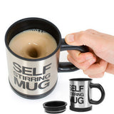 Automatic coffee mixing cup/mug bluw stainless steel self stirring electic coffee mug 350ml