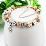 Heart Charm Bracelets & Bangles 925 Silver Bracelets For Women DIY Beads Jewellery Original Pulsera