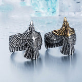 Unique Eagle Jewelry Stainless Steel Biker Eagle Ring Man's High Quality Animal Jewerly