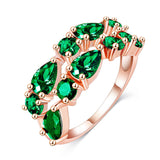 Fashion Top Sale Colorful Rose Gold Plated AAA Zircon Wedding bijoux Rings Imitated Ruby Jewelry For Women