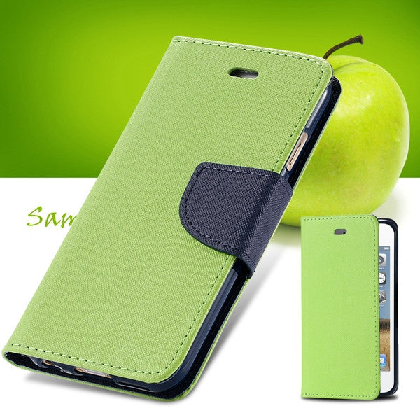 Beautiful Carrying Full Case For Iphone 4 4s 4g Wallet Style Flip PU Leather Phone Cover Stand Card Slot 11 Colors With Logo