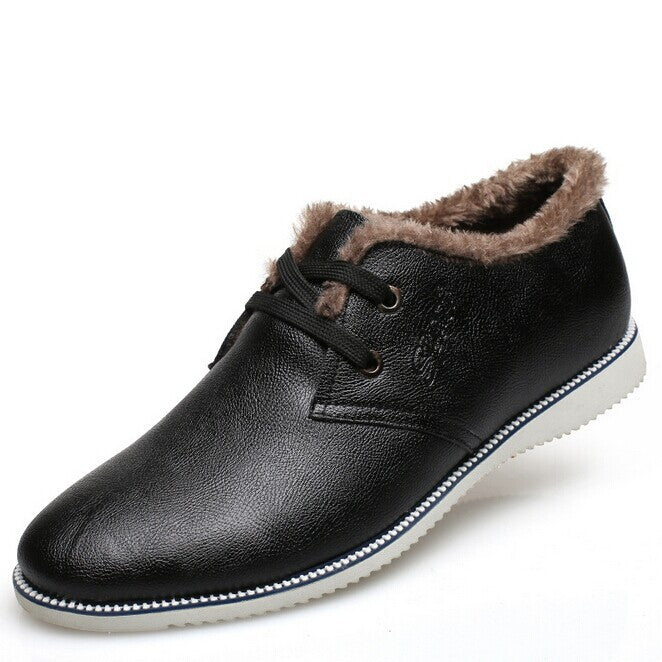 New Fashion men oxfords winter Leather Shoes Men's Flats Shoes Low Men Sneakers for men