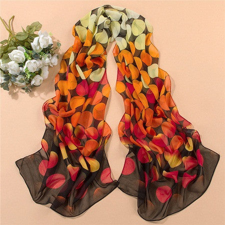 Fashion women's scarf leopard scarf print long shawl cape silk chiffon tippet muffler