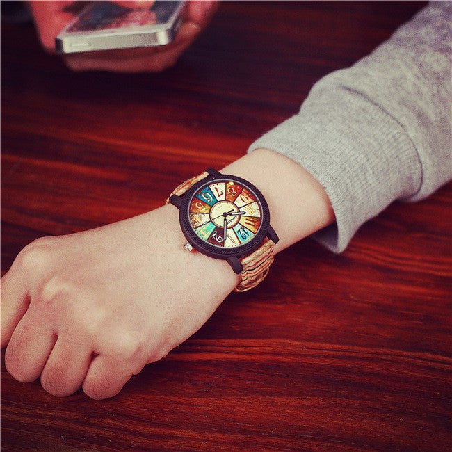 Best Friend Lover's Quartz Watches Unique Design Retro Colorful Disc Boys Girls Casual Clock Children Cartoon Wristwatch