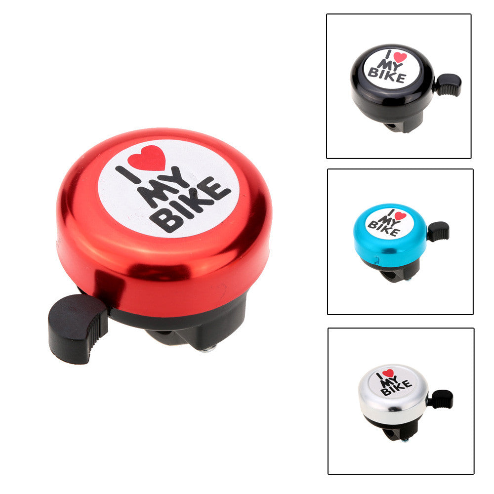 Bicycle Bell I Love My Bike Printed Clear Sound Cute Bike Horn Alarm Warning Bell Ring Bicycle Accessory