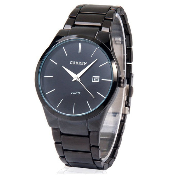 Men fashion Brand Watches Tungsten Steel boys Wristwatches Analog Quartz Man Fashion Clock Men's Watch