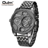 Black Gold Individuality Big Watch Man Luxury Brand Quartz Wrist Watches Men Full Steel Watch Military Clock Male montre homme