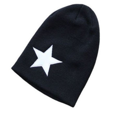 Holiday Sale Free Shipping New Fashion Korean UNISEX Men & Women Star Knit Hat Skull Cap Ski Knit Hat