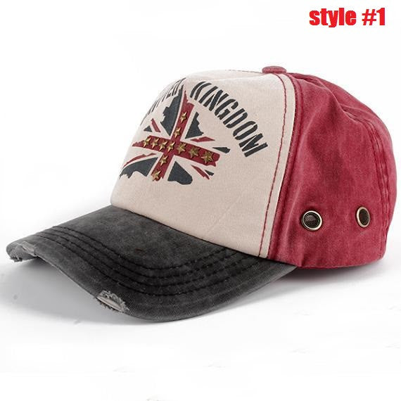 New Fashion Leisure Baseball Caps,Men and Women Fashion Rivet Peaked