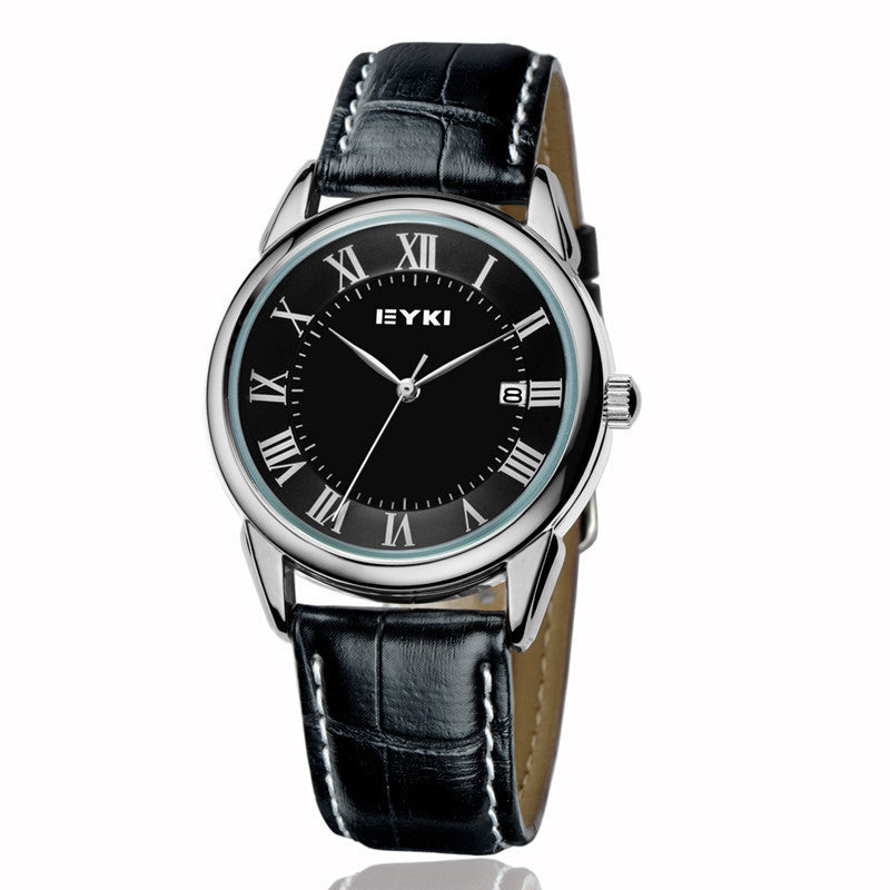 New arrival Original EYKI Man woman leather bracelet watch clear Roma dial