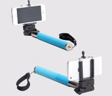 Extendable Selfie Handheld Stick Monopod with Adjustable Phone Holder and Bluetooth Wireless Remote Shutter for iPhone Samsung