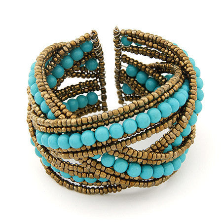 Bohemian Boho Cuff Bracelet for Women Men Jewelry Fashion Resin Beads Charm Bracelets & Bangles Gift pulsera pulseira Mujer