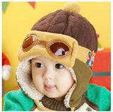 Hot sales Toddlers Cool Baby Boy Girl Kids Infant Winter Pilot Aviator Warm Cap Hat