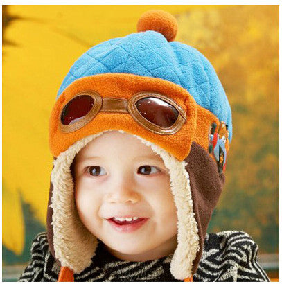 e50cfb71a682 Hot sales Toddlers Cool Baby Boy Girl Kids Infant Winter Pilot Aviator Warm  Cap Hat