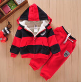 Boys Girls Children Hoodies Winter Wool Sherpa Baby Sports Suit New Jacket Sweater Coat & Pants Thicken Kids Clothes Sets
