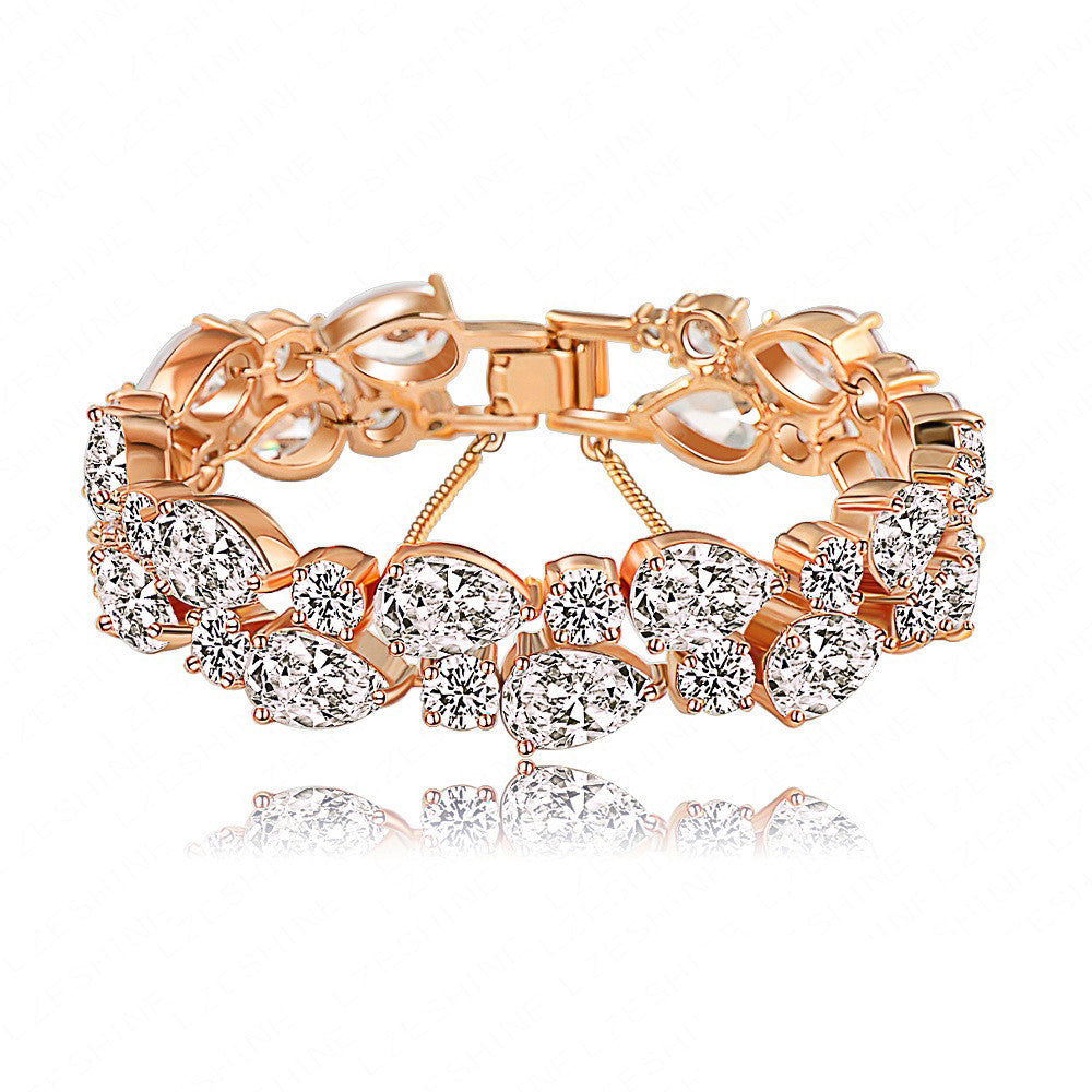 Bracelets & Bangles 2015 New Design Colorful AAA Zircon Bracelet 18K Gold/Rose Gold Plate Women Bracelet Fashion Jewelry