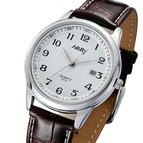 Brand Brand New Exquisite Men Watch Fashion Leather Watch Nary High Quality Japanese Quartz Movement Wristwatch 30M Waterproof