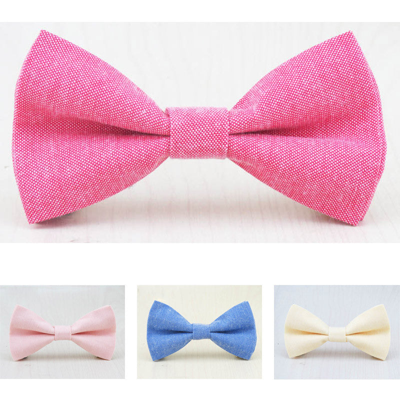 Brand New Children Bow Tie Cute Baby Bowtie Candy Colors Tuxedo Neck tie bow flower Girl Accessory Cotton Kids Bow Ties