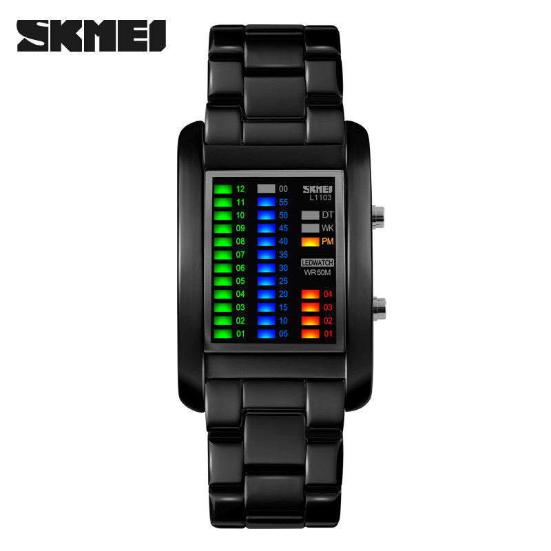 Brand SKMEI 1103 High Quality Alloy Analog Luxury Fashion Men's Wrist Watch New binary led wristwatches