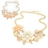 Brilliant quality Women's Resin Flower Choker Bib Statement Collar Chain Necklace Pendant