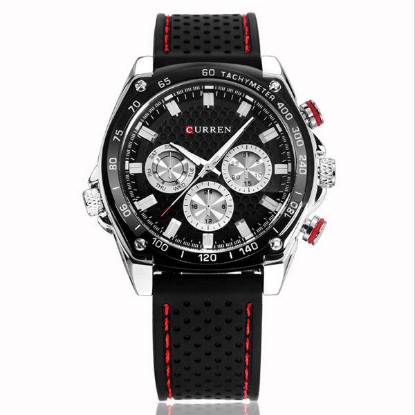 Brand Luxury Men Sports Watches Silicone Men Quartz Military Army Wristwatches