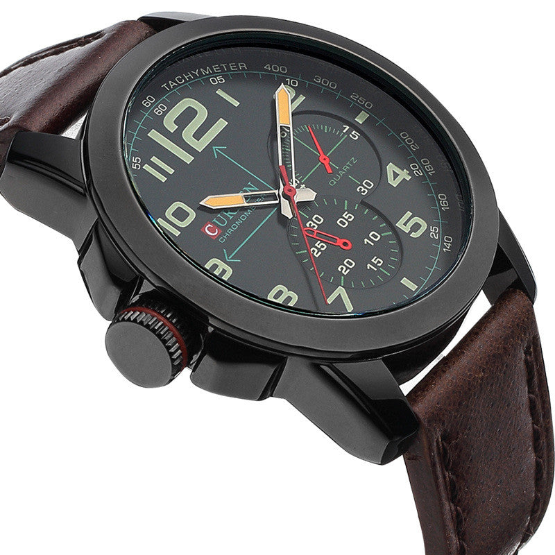 New CURREN Brand Luxury Men Watches Men's Casual Quartz Watch Leather Strap Waterproof Men Military Sport Wristwatches