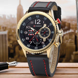 CURREN Leather Strap Analog Men's Quartz Watch Casual Watch Mens Watches Top Brand Luxury Wristwatch