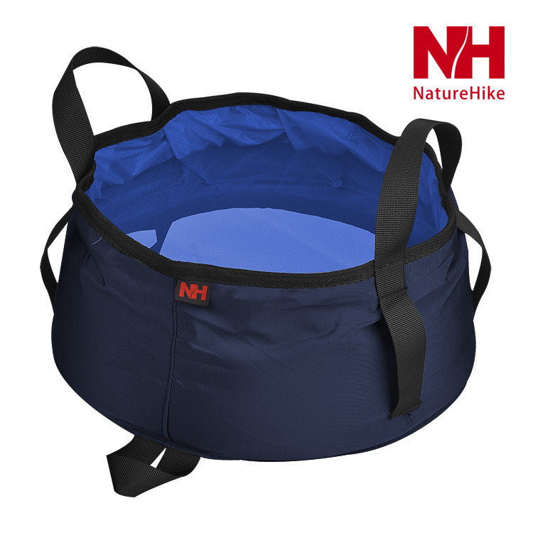 Camping hiking folding water basin foldable water carrier bucket ultra light weight easy portable 8.5 L capacity