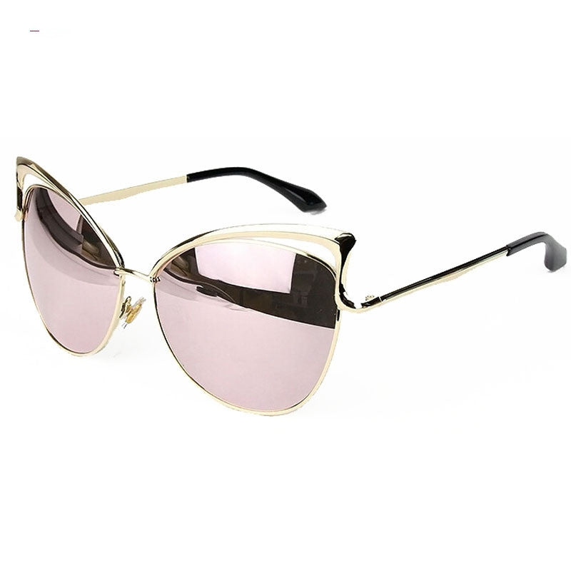 Cat eyes women's sunglasses for women women's sun glasses metal brand designer Vintage retro Sunglasses