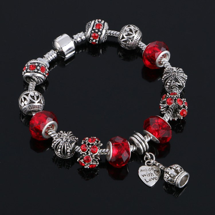 Charm bracelet for Women DIY Crystal Beads Bracelets Pulseira Jewelry Gift