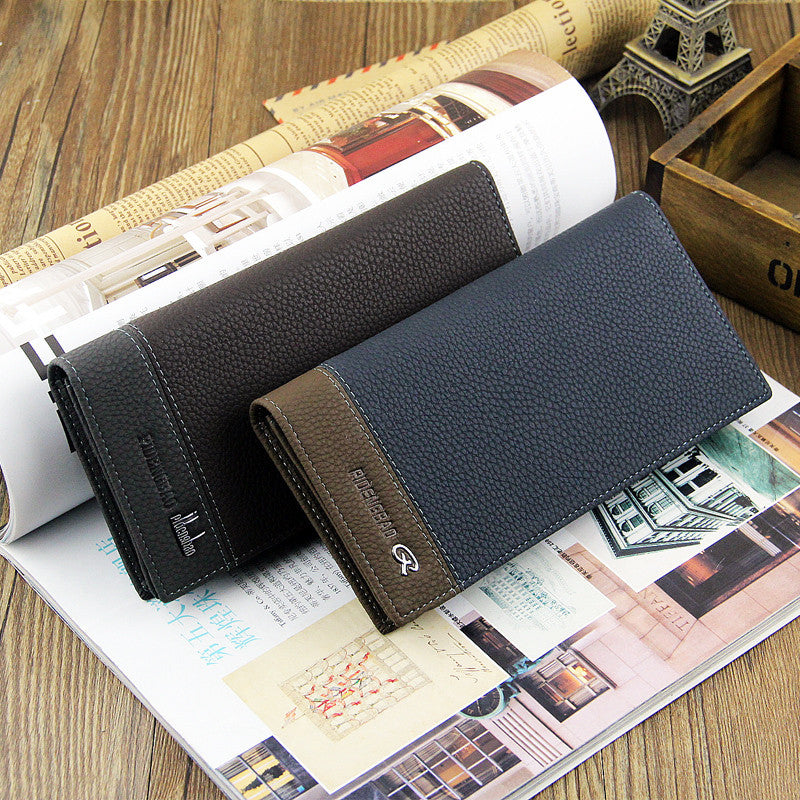 New Brand Men's Wallet Cowhide Leather Long Men's Checkbook coin Zipper Suit Wallet Purse
