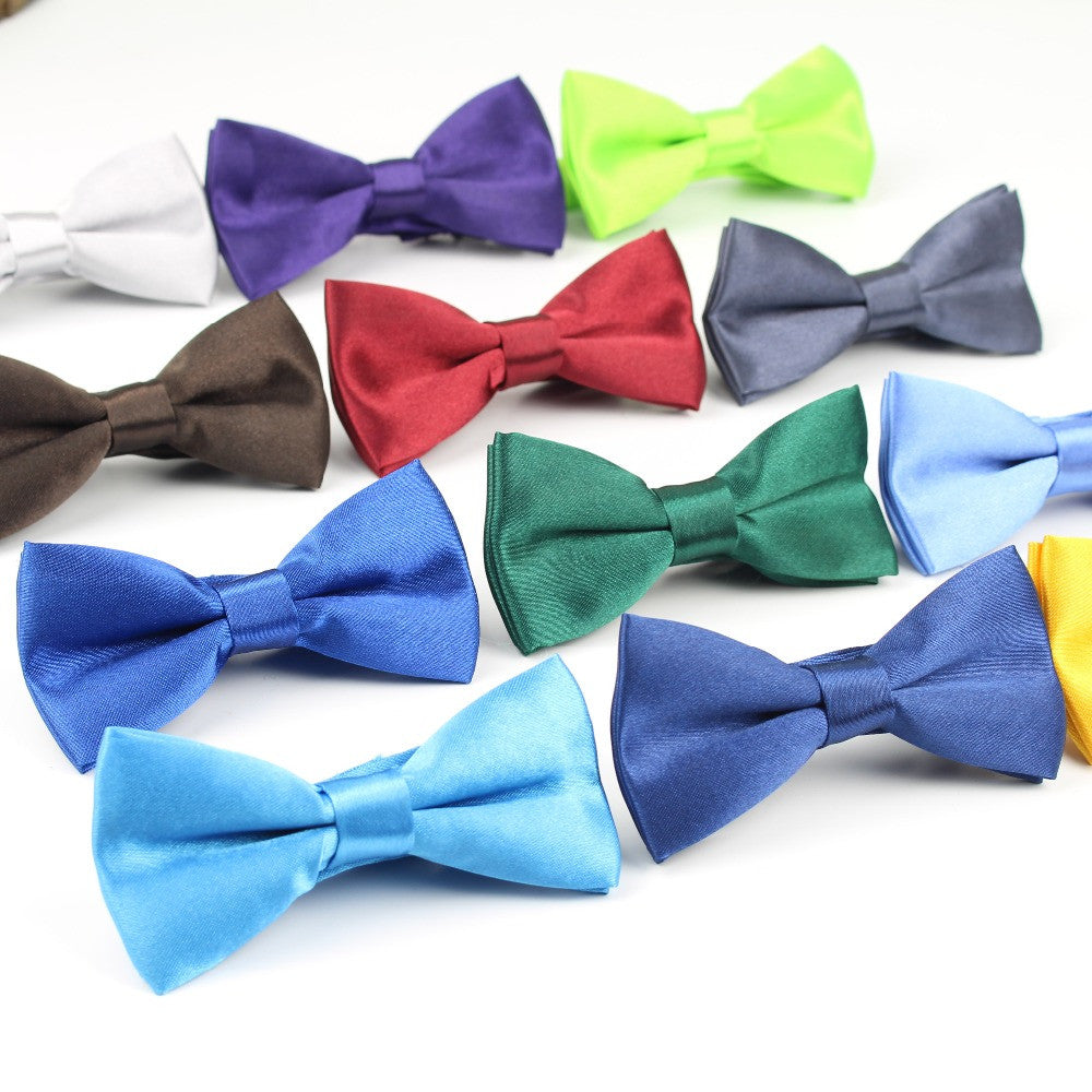 Children Fashion Formal Commercial Classic Solid Color Butterfly Wedding Party Bowtie Kid Suit Tuxedo Dicky Pet Bow Tie