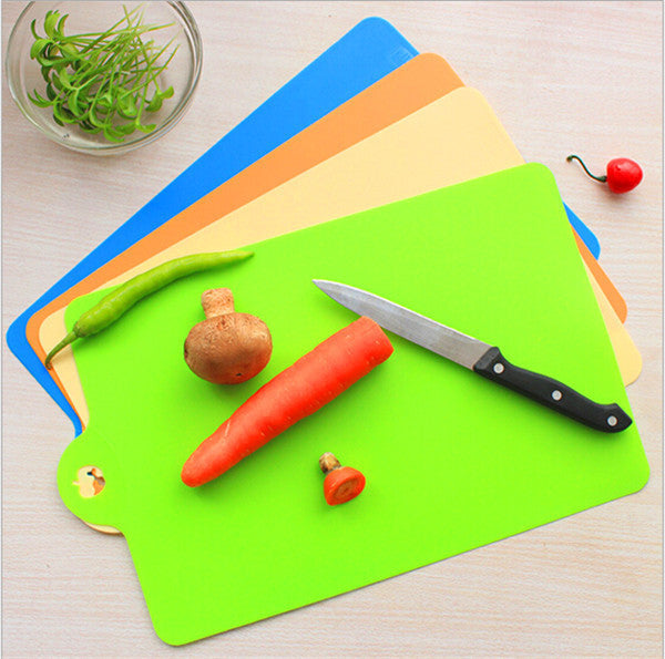 Chopping Blocks Candy color Flexible thin chopping board portable kitchen cooking tools 35*24cm cutting board