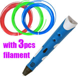 Christmas gift Brand NEW First Generation DIY 3D Printer Pen For Kids AU/US/UK/EU plug With PLA Filament 1.75mm