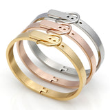 Classic Buckle Series Bracelet For Women/Men Stainless Steel Bangle Silver /18K Gold Fashion Charm Bracelet Bijoux Fine Jewelry