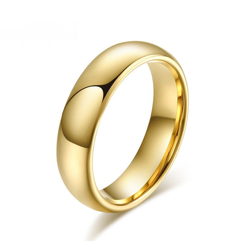 Classic Tungsten Carbide Ring 18K Gold Plated Wedding Rings For Men Women