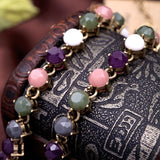 Collar Necklace Fashion Jewelry Feminine Maxi Dress Match Colorful Gem Bohemia Beaded Necklace