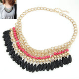 Fashion Collier Femme Fashion Bohemian Statement Necklaces & Pendants Resin Beads Gold Choker Necklace for Women Colar Collares