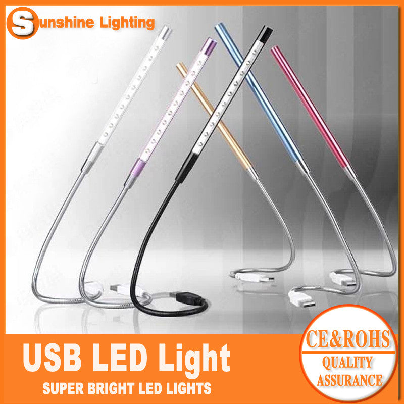 Computer USB Gadget USB LED Lamp Light Flexible for notebook/laptop