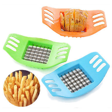 Convenient Potato Chips Vertical Cutter Slicer Stainless Steel Blade(Random Color)